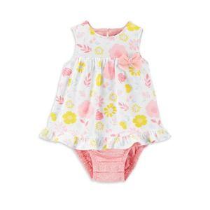 Carter's Infant Girls Sunsuit- Floral Sz 6-9m
